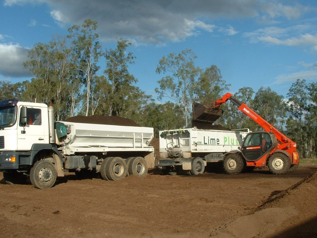 Loading Composted Chook Manure