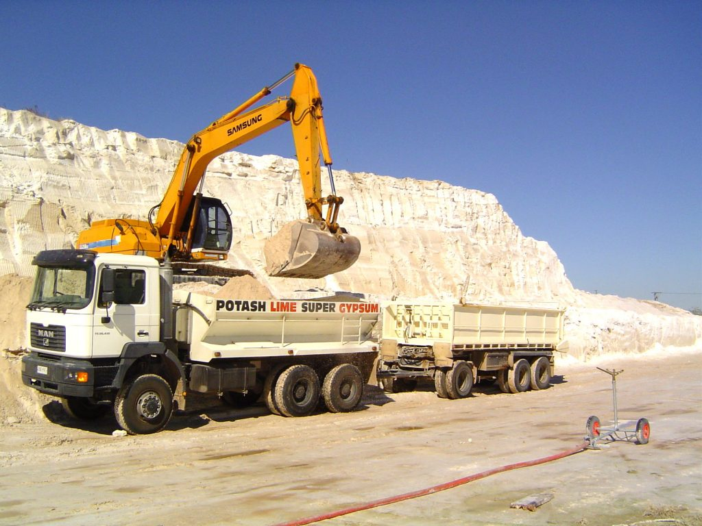 Loading Gypsum
