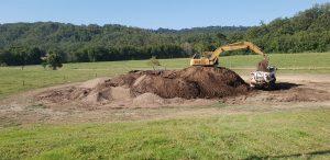 Loading manure for fertiliser