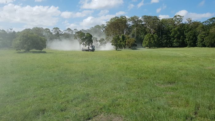 Pasture lime treatment